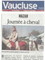 ART 2007.03.27 VAUCLUSE MATIN Journee a cheval